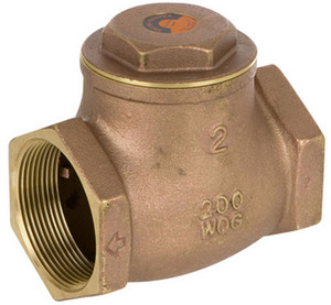 Smith Cooper 2 1/2 in. NPT Threaded Lead Free Brass 200 WOG Check Valve