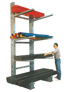 MECO Medium Duty Cantilever Rack Single Sided, 10 ft. H,  3,800 lb. Cap., 45 in. L Base w/36 in. L Arms