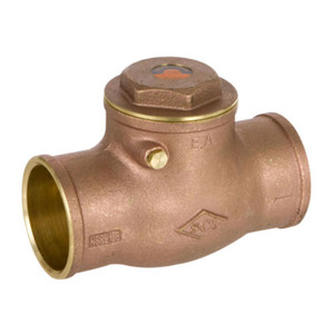 Smith Cooper 2 1/2 in. Sweat Lead Free Brass 200 WOG Check Valve
