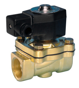 Jefferson Valves 1335 Series Brass Explsion Proof Normally Closed 2-Way Solenoid Valves - 3/8 in. - 24 VDC 19W - 14 - 2.75 - 0/105