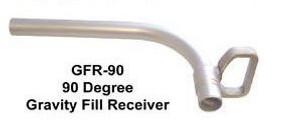 FloMAX 1 in. 90° Spout Diesel Fuel Gravity Fill Tube - 90° Spout - 1 in.