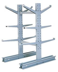 MECO Medium Duty Cantilever Rack Double Sided,  6 Ft. H  16,200 lbs. Cap.,  54 in. L Base w/12 in. L Arms