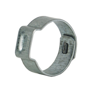 Dixon 15/32 in. Zinc Plated Steel Pinch-On Single Ear Clamp - 100 Qty