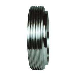 Dixon Sanitary John Perry Threaded Short Weld Ferrule - 304 Stainless Steel - 2 1/2 in.