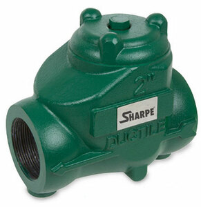 Sharpe 2 in. NPT Threaded Ductile Iron Oil Patch Swing Check Valve - 600 PSI