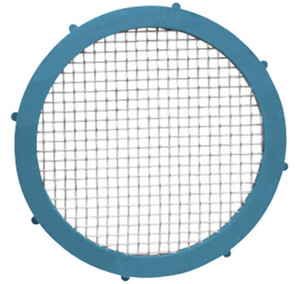 Rubber Fab 4 in. Nitrile Rubber Metal Detectable Screen Camlock Gaskets - 80 Mesh