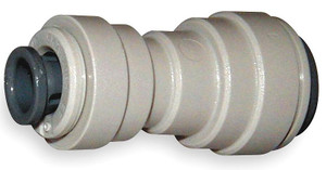 John Guest Gray Inch Acetal Fittings - Reducing Union Connectors - 1/2 in. - 3/8 in. - 10