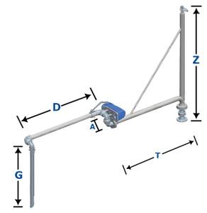 OPW Supported Extended Reach Loading Arm (B-32-F) - 3 in.