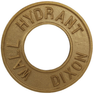 Dixon 2 1/2 in. Pipe Round Identification Wall Hydrant Plate