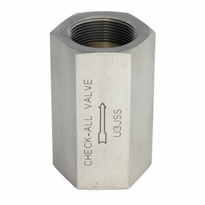 Check-All Valve 3/8 in. NPT Stainless Steel Threaded Low-Pressure Check Valves