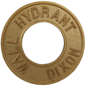 Dixon 4 in. Pipe Round Identification Wall Hydrant Plate