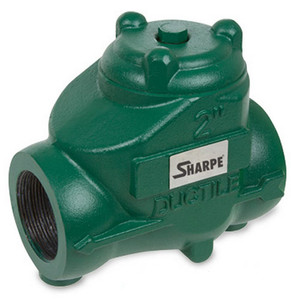 Sharpe 4 in. NPT Threaded Ductile Iron Oil Patch Swing Check Valve - 300 PSI