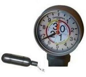 Morrison Bros. 2 in. Male BSP Clock Gauge - Meters & Centimeters