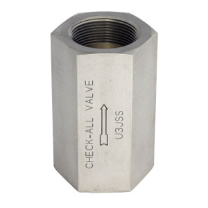 Check-All Valve 2 in. NPT Stainless Steel Threaded Low-Pressure Check Valves