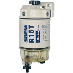 Racor 200 Series 15 GPH Low Flow Diesel Fuel Filter/Water Separator 215 Filter Assembly - 10 Micron - 6 Qty