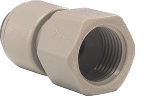 John Guest Gray Inch Acetal Fittings - Female Connectors - 1/4 in. - 1/4 in. - 10