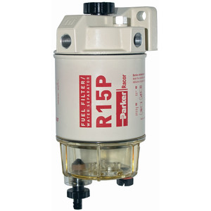 Racor 200 Series 15 GPH Low Flow Diesel Fuel Filter/Water Separator 215 Filter Assembly - 30 Micron