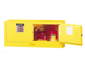 Justrite Sure-Grip Ex 12 Gallon Piggyback Cabinet - Self-Closing