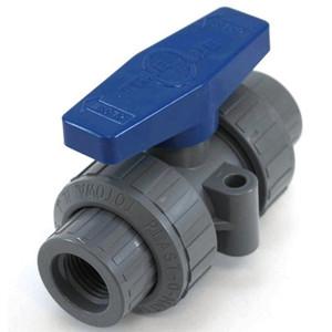 Plast-O-Matic Series MBV 3/8 in. Poly Manual Ball Valves w/ Viton Seals