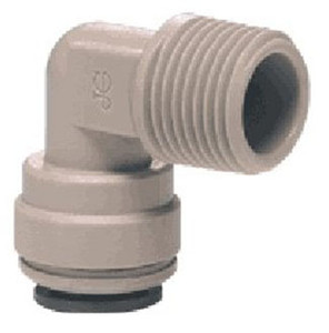 John Guest Gray Inch Acetal Fittings - Fixed Elbows - 1/4 in. - 1/8 in. - 10
