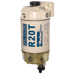 Racor 200 Series 30 GPH Low Flow Diesel Fuel Filter/Water Separator 230 Filter Assembly - 10 Micron