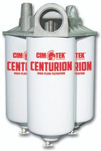 Cim-Tek 40020 Centurion Series Commercial Fuel Filter Housing - Triple, 3 Elements