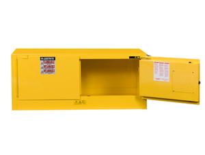 Justrite Sure-Grip Ex 17 Gallon Piggyback Cabinet - Manual Close