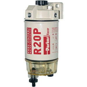 Racor 200 Series 30 GPH Low Flow Diesel Fuel Filter/Water Separator 230 Filter Assembly - 30 Micron - 6 Qty