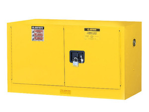Justrite Sure-Grip Ex 17 Gallon Wall Mount Safety Cabinet - Manual Close