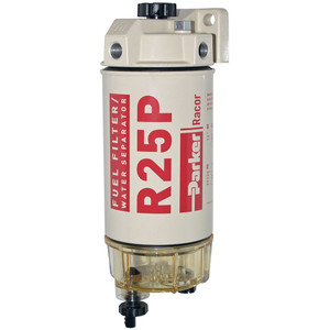 Racor 200 Series 45 GPH Low Flow Diesel Fuel Filter/Water Separator 245 Filter Assembly - 30 Micron - 6 Qty