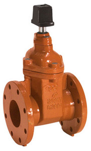 Smith Cooper Ductile Iron AWWA 250 lb. Gate Valve - Flanged - 4 in. - Op Nut