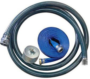 Kuriyama PVC Water Suction & Discharge Hose w/ Strainer & Camlock Couplings - 4 in.