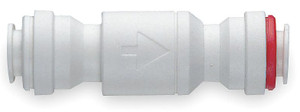 John Guest 1/4 in. Check Valve - White Inch Acetal Fitting - 0.3 - 1/4 in. - 10