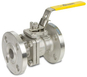 Sharpe 2 in. 150 Lbs Flanged Stainless Steel Ball Valve w/ Locking Handle, PTFE Seat - Full Port