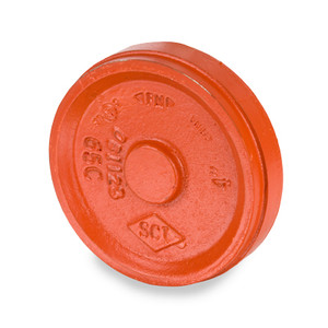 Smith Cooper 1 1/2 in. Grooved Cap - Orange Paint Coating