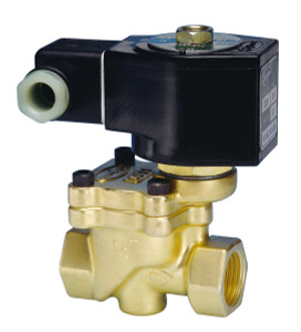 Jefferson Valves 1390 Series 2-Way Brass Explosion Proof Solenoid Valves - Normally Open - 3/8 in. - 24 VDC 19W - 1.87 - 1.5/150