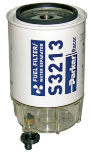 Racor 320 Engine Spin-on Series 90 GPH Fuel Filter/Water Separator Replacement Element for Caterpillar - 2  Micron - 6 Qty