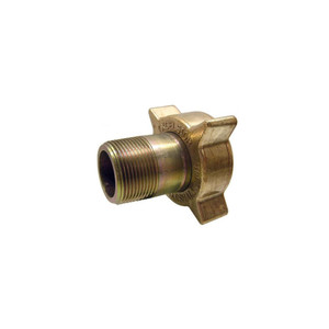 Marshall Excelsior LP Gas 3 1/4 in. Female Acme x 2 in. MNPT Filler Coupling, Brass Nut