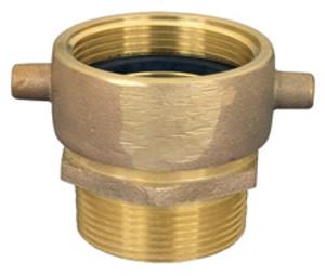 Dixon Powhatan 2 1/2 in. NPSH x 2 1/2 in. NPT Pin Lug Brass (Open Snoot) Male Swivel Adapter