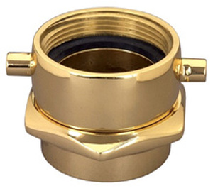 Dixon 2 1/2 in. NH(NST) x 2 in. NPT Brass Pin Lug (Open Snoot) Female Swivel Adapters
