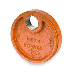 """Smith Cooper 6 in. Grooved Drain Cap w/ 1"""" NPT Drain"""