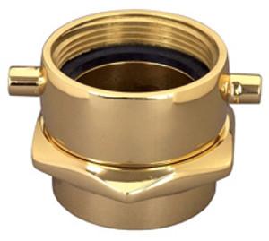 Dixon 2 1/2 in. NH(NST) x 3 in. NPT Brass Pin Lug (Open Snoot) Female Swivel Adapters