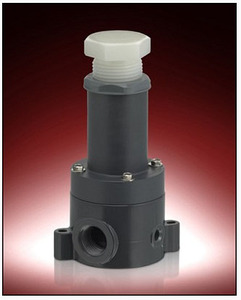 Plast-O-Matic Series RVDT & RVDTM 1 in. Poly Relief Valves w/ PTFE Viton Seals