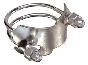Kuriyama 4 in. Stainless Steel Counterclockwise Spiral Double Bolt Tiger Clamp