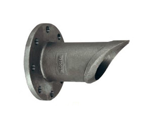 Dixon 10 1/2 in. 150# Flange x Weld Adapter w/ Offset Pattern, 2 Holes