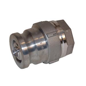 Dixon Aluminum Dry Disconnect 2 in. Adapter x 1 1/2 in. Female NPT - Kalrez Seal