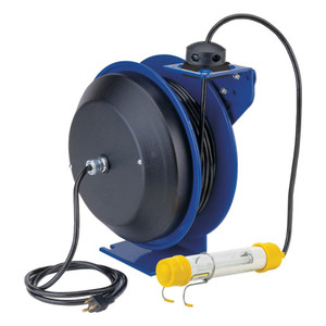Coxreels Power Cord Reel w/ Light - 16 GA. - 50 ft. - Fluorescent Tube
