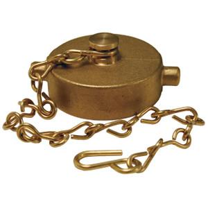 4 in. NH(NST) Dixon Brass Cap & Chain - Pin Lug