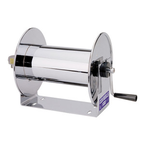 Coxreels 112-4-75-SS Stainless Steel Compact Hand Crank Hose Reel - Reel Only - 1/2 in. x 75 ft.