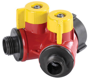 "POK 2 Way BiPok Wildland Valves 1.5"" F NST Inlet X (2) 1.0"" M NST Outlet - 1.5"" - 1.0"" - Short"
